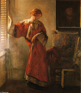 Joseph Rodefer Decamp - The Window Blind