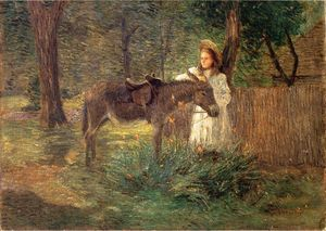 Julian Alden Weir - After the Ride aka Visiting Neighbors