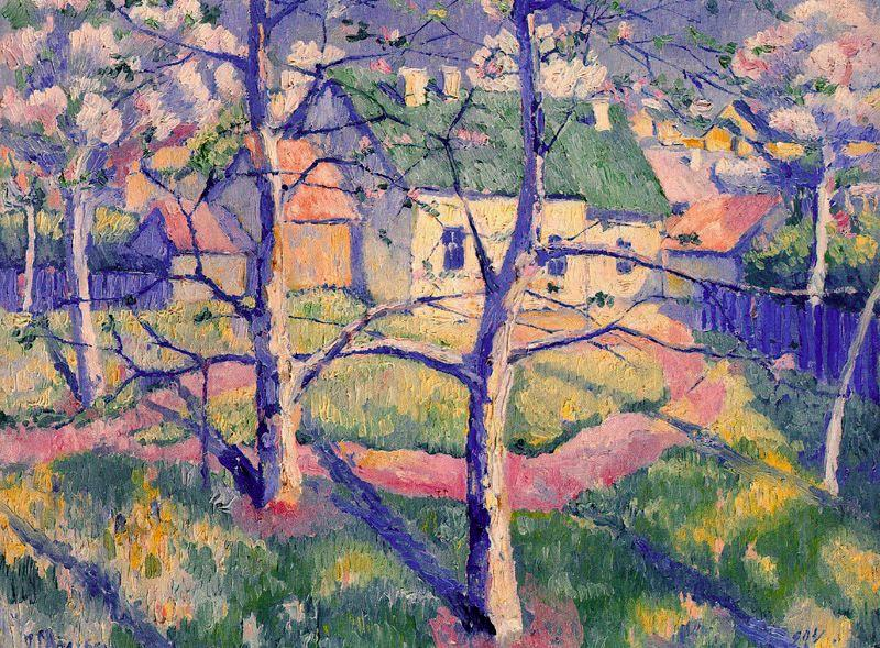 Apples Trees in Blossom by Kazimir Severinovich Malevich (1878-1935, Ukraine) | Oil Painting | WahooArt.com