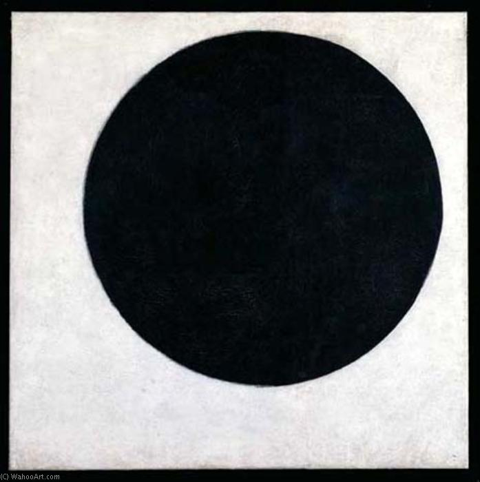 Black circle by Kazimir Severinovich Malevich (1878-1935, Ukraine) | Oil Painting | WahooArt.com