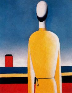Kazimir Severinovich Malevich - Complex Presentiment. Half-Figure in a Yellow Shirt