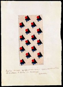 Kazimir Severinovich Malevich - Design for Suprematist Fabric 3