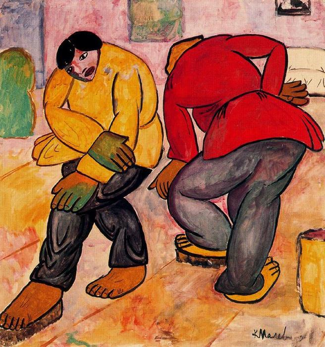 Floor Polishers by Kazimir Severinovich Malevich (1878-1935, Ukraine) | Art Reproduction | WahooArt.com