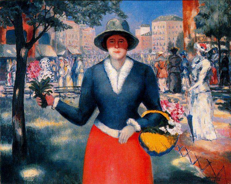 Flower Girl by Kazimir Severinovich Malevich (1878-1935, Ukraine) | Oil Painting | WahooArt.com