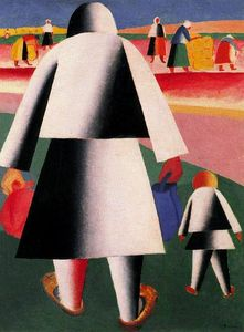 Kazimir Severinovich Malevich - Going to the Harvest. Marfa and Vanka