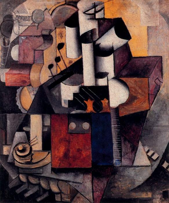 Musical instrument - Lamp by Kazimir Severinovich Malevich (1878-1935, Ukraine) | Oil Painting | WahooArt.com