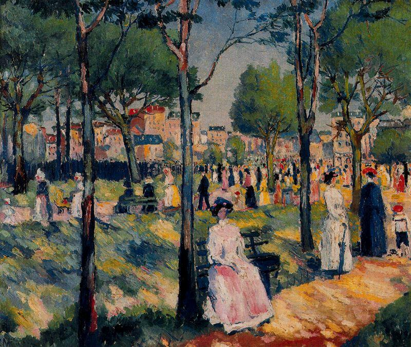 On the Boulevard by Kazimir Severinovich Malevich (1878-1935, Ukraine) | Oil Painting | WahooArt.com