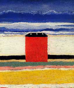 Kazimir Severinovich Malevich - Red House