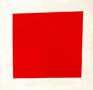 Kazimir Severinovich Malevich - Red Square. Painterly Realism of a Peasant Woman in Two Dimensions