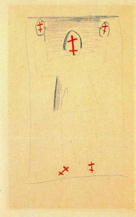 Standing Figure 1 by Kazimir Severinovich Malevich (1878-1935, Ukraine) | Museum Quality Reproductions | WahooArt.com