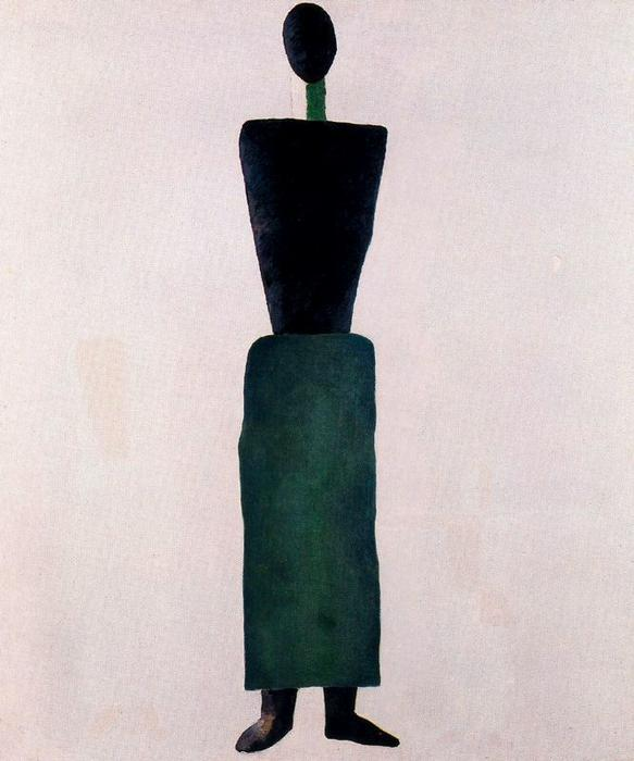 Suprematism Female Figure by Kazimir Severinovich Malevich (1878-1935, Ukraine) | Art Reproduction | WahooArt.com