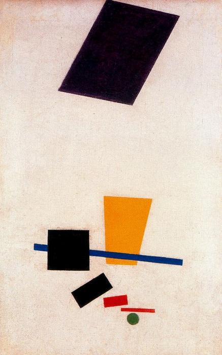 Suprematism Painterly Realism of a Football Player. Color Masses in the fourth Dimension by Kazimir Severinovich Malevich (1878-1935, Ukraine) | Oil Painting | WahooArt.com