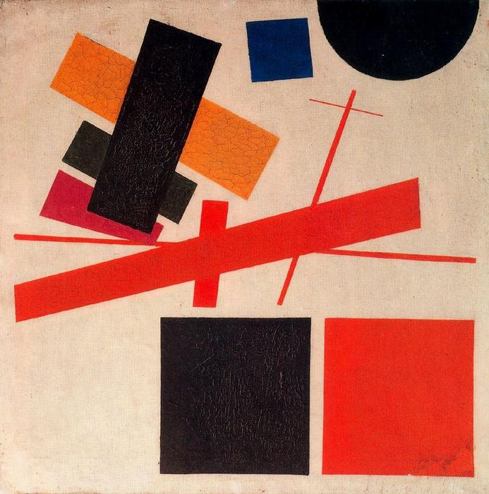 Suprematism. Nonobjective Composition by Kazimir Severinovich Malevich (1878-1935, Ukraine) | Museum Quality Reproductions | WahooArt.com