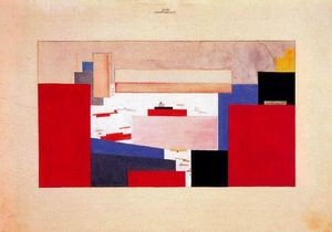 Kazimir Severinovich Malevich - Suprematism. Study for a Curtain