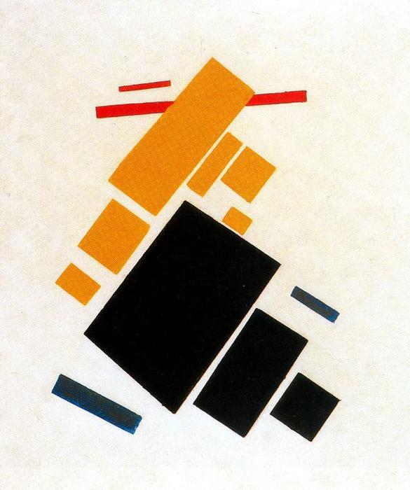 Suprematist Painting, Aeroplane Flying, Oil by Kazimir Severinovich Malevich (1878-1935, Ukraine)