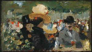 Robert Henri - Cafe Bleu, St. Cloud