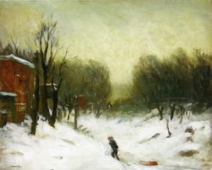Robert Henri - Seventh Avenue in the Snow