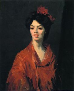Robert Henri - Spanish Woman in a Red Shawl