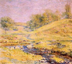 Robert Lewis Reid - Landscape with Stream