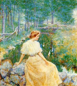Order Art Reproductions | Spring, 1906 by Robert Lewis Reid (1862-1929, United States) | WahooArt.com