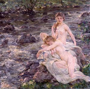 Order Museum Quality Copies | The Bathers by Robert Lewis Reid (1862-1929, United States) | WahooArt.com