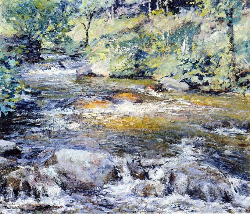The Brook by Robert Lewis Reid (1862-1929, United States) | Oil Painting | WahooArt.com