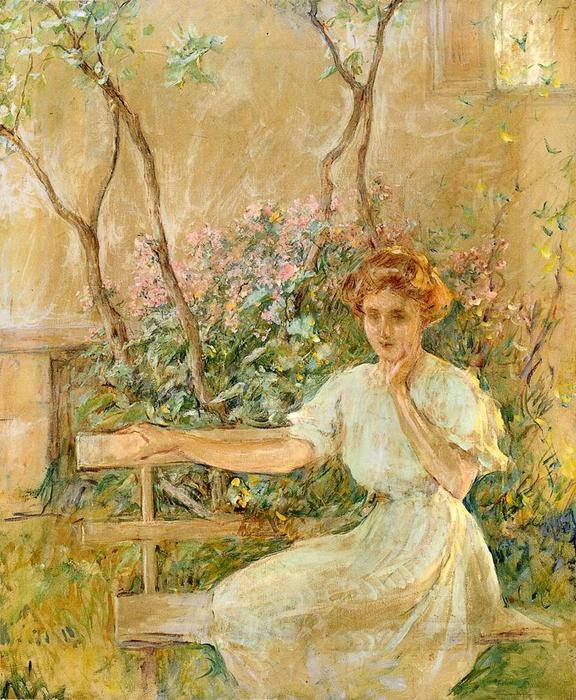 Buy Museum Art Reproductions | The Garden Seat, 1911 by Robert Lewis Reid (1862-1929, United States) | WahooArt.com