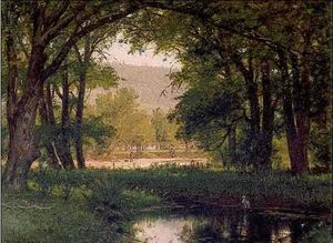 Thomas Worthington Whittredge - Pool and Heron