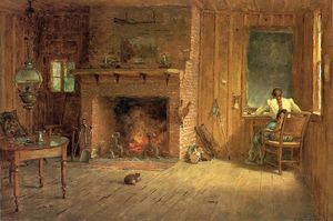 Thomas Worthington Whittredge - The Club House Sitting Room at Balsam Lake, Catskills