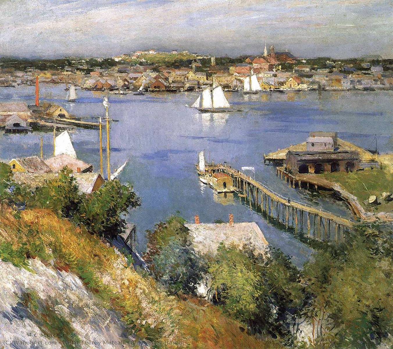 Gloucester Harbor, Oil On Canvas by Willard Leroy Metcalf (1858-1925, United States)
