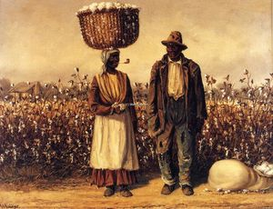 William Aiken Walker - Negro Man and Woman with Cotton Field