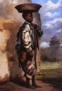 Buy Museum Art Reproductions | Negro Youth with Basket on Head (Cuba), 1869 by William Aiken Walker (1839-1921, United States) | WahooArt.com