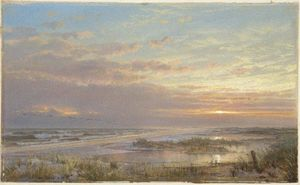 William Trost Richards - A High Tide at Atlantic City