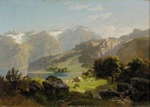William Trost Richards - A Mountain Lake