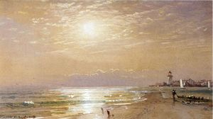 William Trost Richards - Along the Beach, Towards Sunset