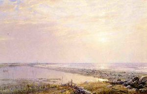 William Trost Richards - Beach Scene, Late Afternoon