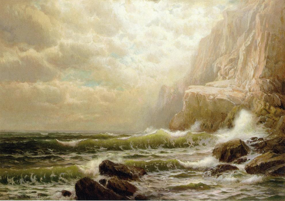 Cliffs Of Dover By William Trost Richards 1833 1905 United States Oil Painting Wahooart
