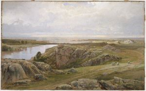 William Trost Richards - Lily Pond, Newport