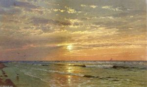 William Trost Richards - Sunrise, Atlantic City