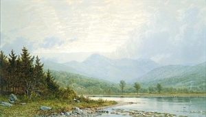 William Trost Richards - Sunset on Mount Chocorua, New Hampshire