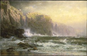 William Trost Richards - The League Long Breakers Thundering on the Reef