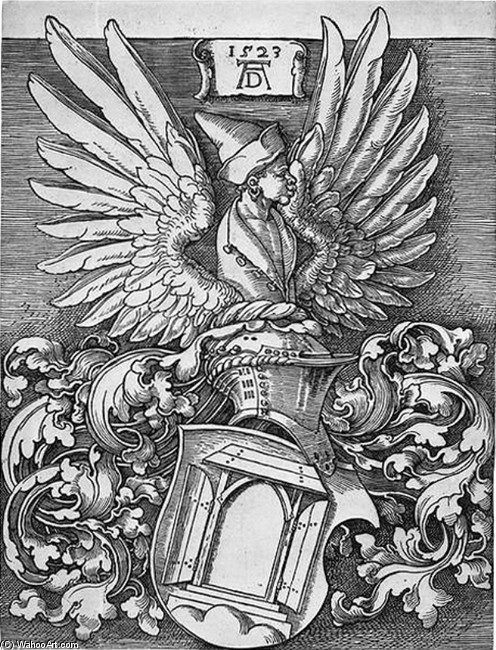 Coat Of Arms Of The Durer Family, Drawing by Albrecht Durer (1471-1528, Germany)