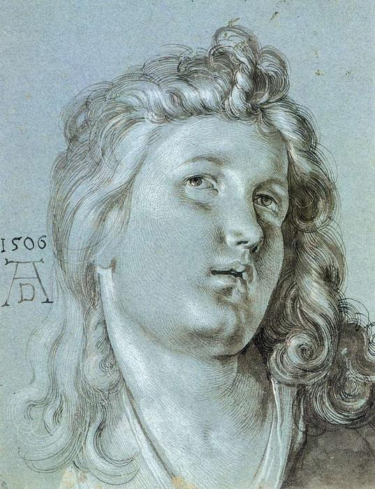 Head of an Angel, 1506 by Albrecht Durer (1471-1528, Italy) | WahooArt.com