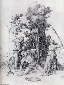Albrecht Durer - Orpheus Slain By Bacchantes, With A Boy Running Away