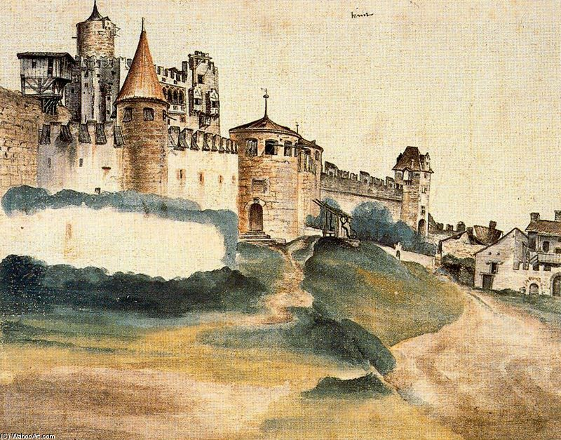 The Bishop's Castle at Trent, Watercolour by Albrecht Durer (1471-1528, Italy)