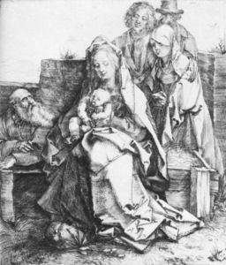 Albrecht Durer - The Holy Family with St John, The Magdalen and Nicodemus