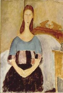 Amedeo Modigliani - Jeanne Hébuterne, Seated