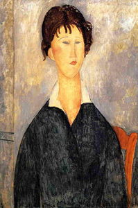 Amedeo Modigliani - Portrait of a Woman with a White Collar