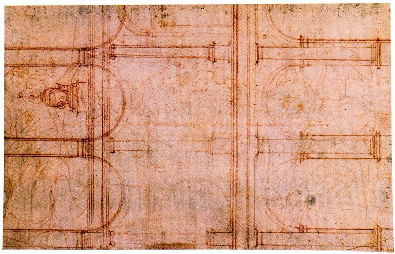 Architectural study, Drawing by Antonio Allegri Da Correggio (1489-1534, Italy)