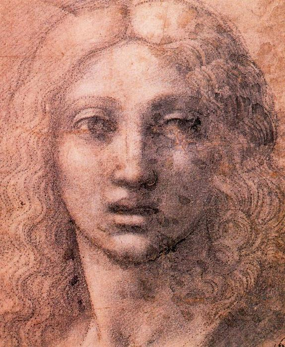 Head of the Young Chist, Drawing by Antonio Allegri Da Correggio (1489-1534, Italy)